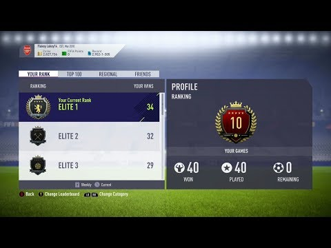 TOP100 FUT CHAMPS REWARDS 40-0 WEEKEND LEAGUE Fifa 18 Ultimate Team