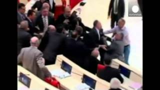 Fight breaks out in Georgian parliament over Ukraine