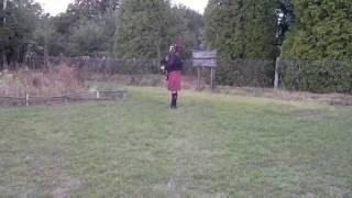 Outlander Titelmelodie gespielt von einem Schotten auf dem Michaelsberg in Bruchsal