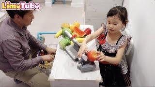 라임이 마트에서 과일사세요~프리파라 키즈카페 LimeTube toy review
