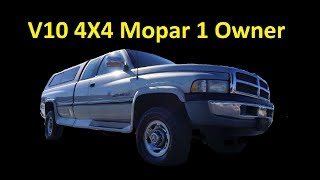 DODGE RAM V10 4X4 1 OWNER FOR SALE PICKUP TRUCK REVIEW VIDEO