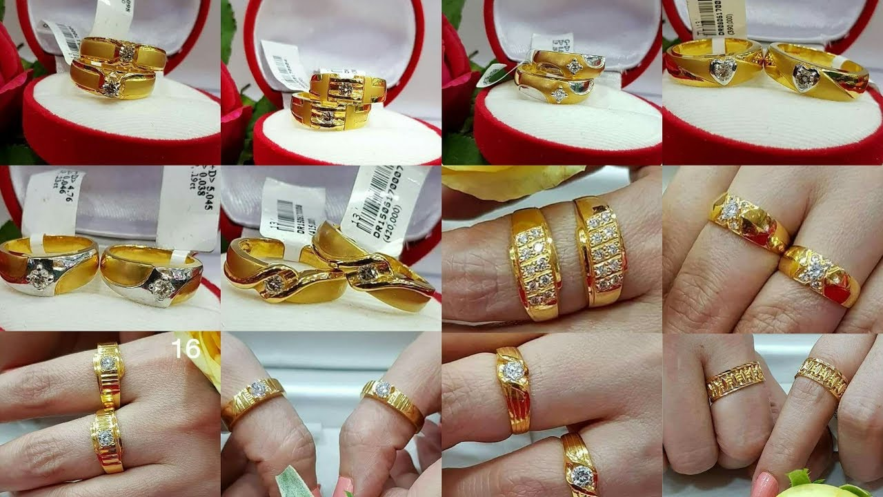 Gold Engagement Rings Gold Couple Wedding Rings Designs YouTube