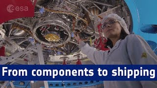 Orion service module – from components to shipping