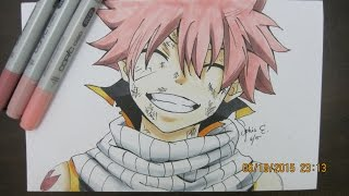 Fairy Tail- Drawing and Coloring Natsu (Read description please)