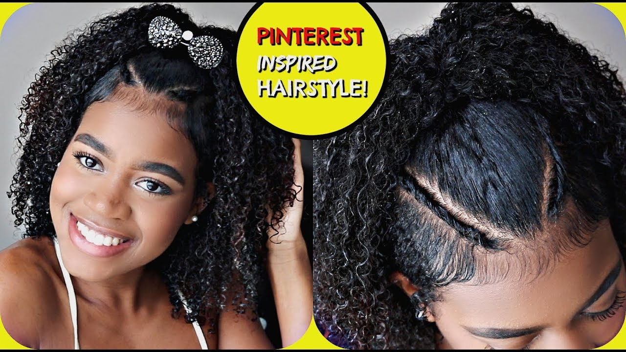 Easy Pinterest Inspired Hairstyle For Naturally Curly Hair Cute For Homecoming