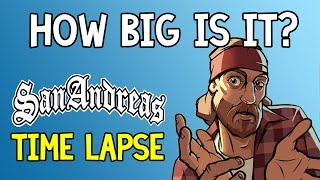 How Big is GTA San Andreas? | Walking Across the Map Time Lapse #7