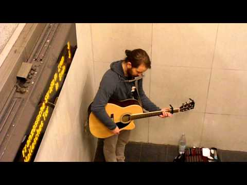 Berlin subway musician plays Elliott Smith - Waltz #2 (XO)