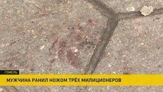 Подробности нападения с ножом на троих милиционеров в Гомеле