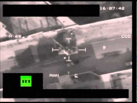 Combat camera: RAF Tornado missile strikes Gaddafi forces tank