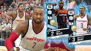 Nba 2k17 myteam - diamond john wall + bradley beal dynamic duo! he wants to be on youtube gone wrong