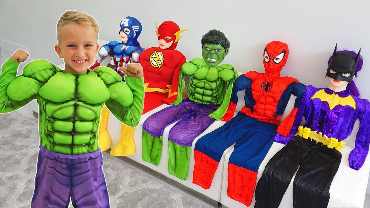 Download Vlad turns into a superheroes   Compilation video for children
