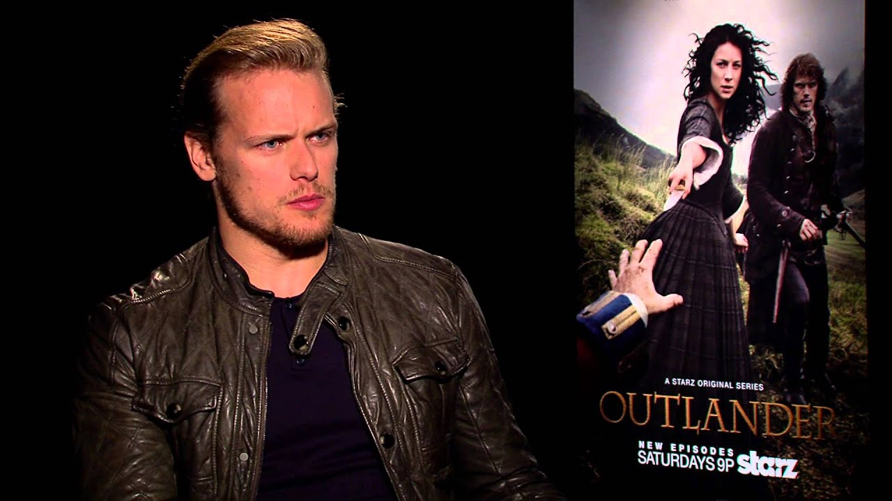 Sam Heughan of Outlander on Starz discusses his love/hate relationship with  Social Media