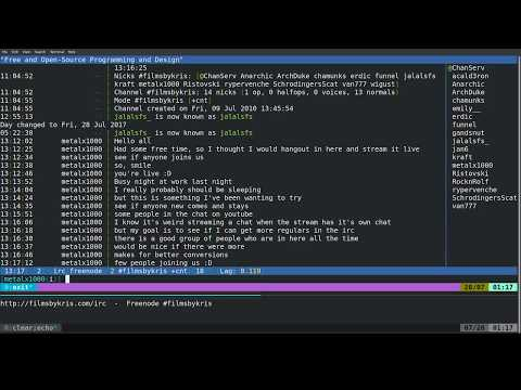 Live Stream of IRC Channel - Time to Chat Live