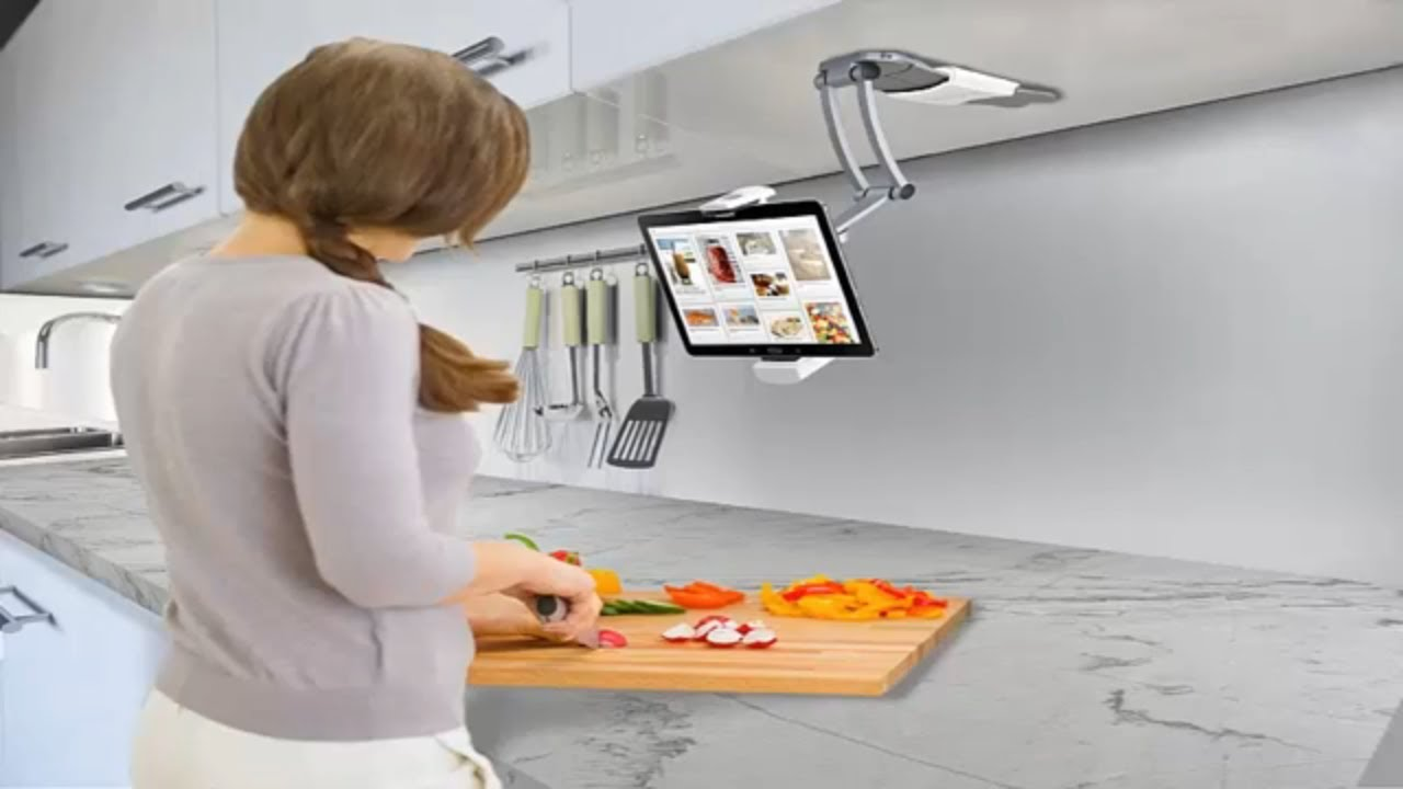 """CTA Digital Wall//Under-Cabinet Mount Tablet Stand iPad pro 12.9/"""" Surface Pro 4"""