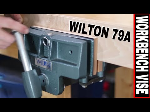 WOODWORKER BENCH VISE INSTALLATION AND REVIEW:  WILTON 4x10  PIVOT JAW  79A