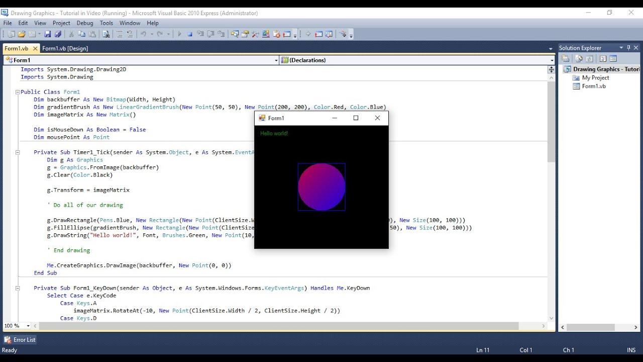 VB NET Graphics Tutorial