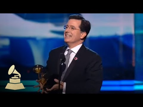 Stephen Colbert accepting the GRAMMY for Best Comedy Album | GRAMMYs