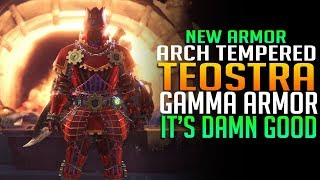 🔥 NEW ARMOR! Arch Tempered Teostra Gamma Armor Review - Monster Hunter World DLC