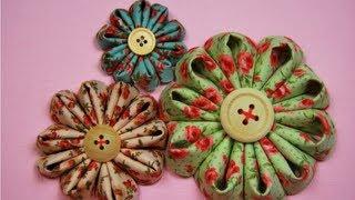 видео Цветы канзаши из ткани