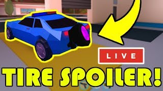 UPDATE COMING NEXT WEEK!? | TIRE SPOILER UPDATE! | NEW BADIMO GAME SOON! | Roblox Jailbreak LIVE 🔴