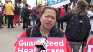 Pinoys join rally for universal healthcare bill in CA