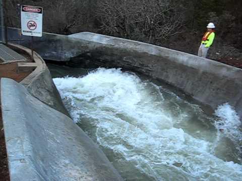 Bear River Canal Cortapassi Flume outlet, Q=400 cfs