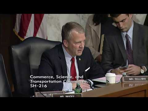 Sen. Dan Sullivan (R-AK) at a Senate Commerce, Science & Transportation Hearing - May 18, 2017