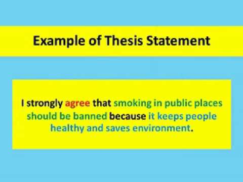 Example Of Thesis Statement For Argumentative Essay  My Hobby Essay In English also Student Life Essay In English Writing An Argumentative Essay  Introduction Paragraph  Youtube Health Education Essay