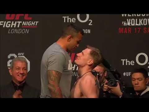 UFC Londres: Encarada entre Fabricio Werdum e Alexander Volkov
