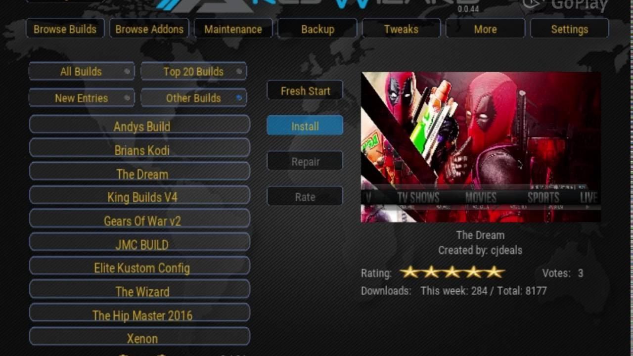 Dream Build Kodi