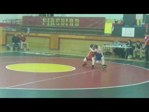 Nicholas wrestling for Falcon Middle School