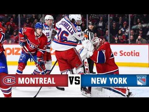 Montreal Canadiens vs New York Rangers | Season Game 44 | Highlights (14/1/17)