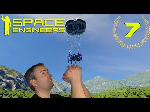"Space Engineers #7 ASCENSOR Y ""ZPG EXPRESS"" (nave minera) Gameplay Español"