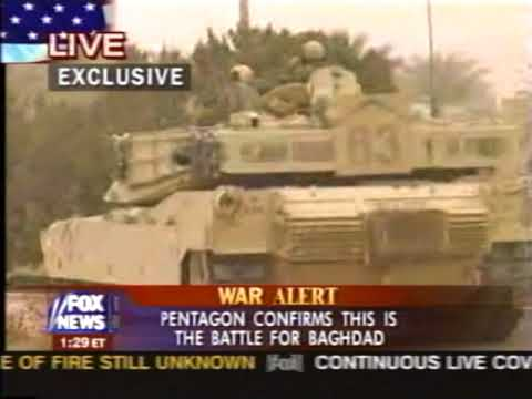 News - Iraq War - Part 2 - Tape 1 - Entering Baghdad - 5-6 A