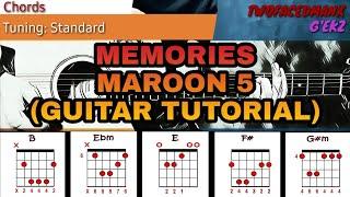 Gambar cover Maroon 5 - Memories (Guitar Tutorial)