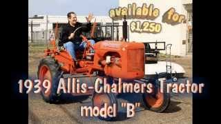 old farm tractor for sale allis chalmers model b vintage tractor