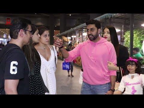 Aishwarya Rai, Abhishek Bachchan, Salman Khan's Family Arrives At Mumbai Airport