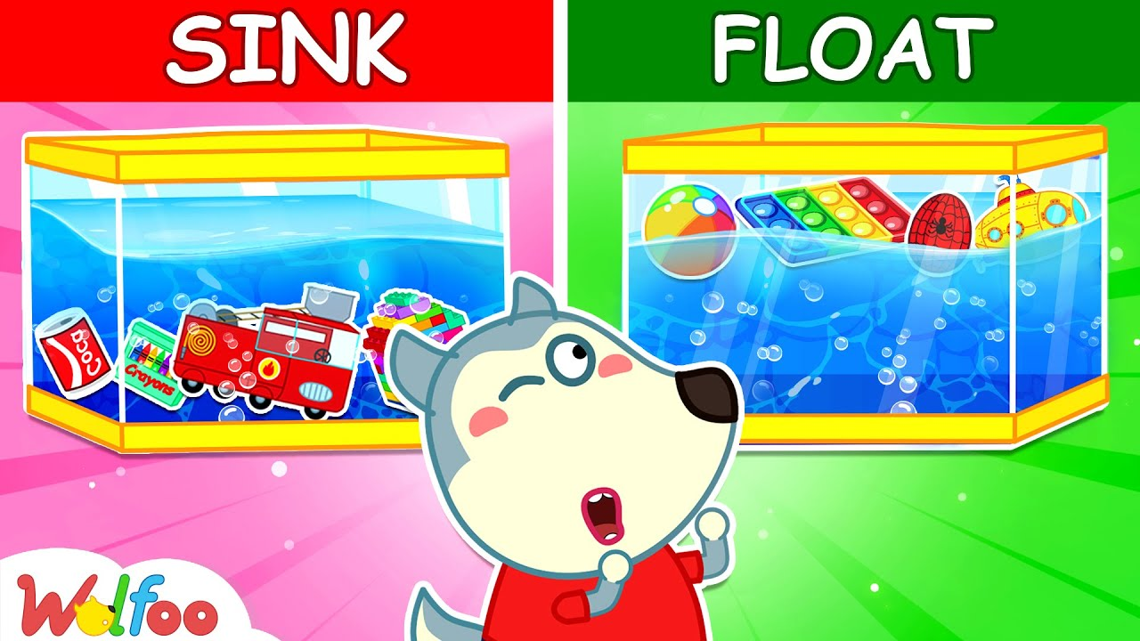 Wolfoo! Sink or Float? - DIY Science Experiments for Kids - Kids Educational Video | Wolfoo Channel