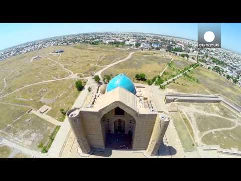 A bird's-eye view of impressive Kazakh mausoleum - Postcards from Kazakhstan bonus
