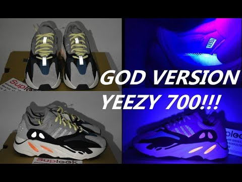 sports shoes 09bae 359dc REAL vs Fake Yeezy 700 Wave Runner + UV Light Test YEEZY BOOST 700 WAVE  RUNER