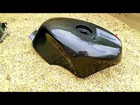 Carbon fuel tank UHD video