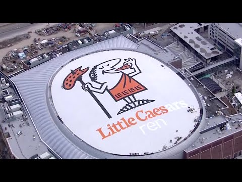 Little Caesars Arena's roof almost complete