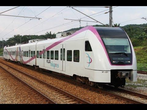 155 Kmph HIGHSPEED TRAIN KLIA EXPRESS - Malaysia Railways - Full Journey
