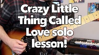 Queen Crazy Little Thing Called Love guitar solo lesson! Weekend Wankshop 205