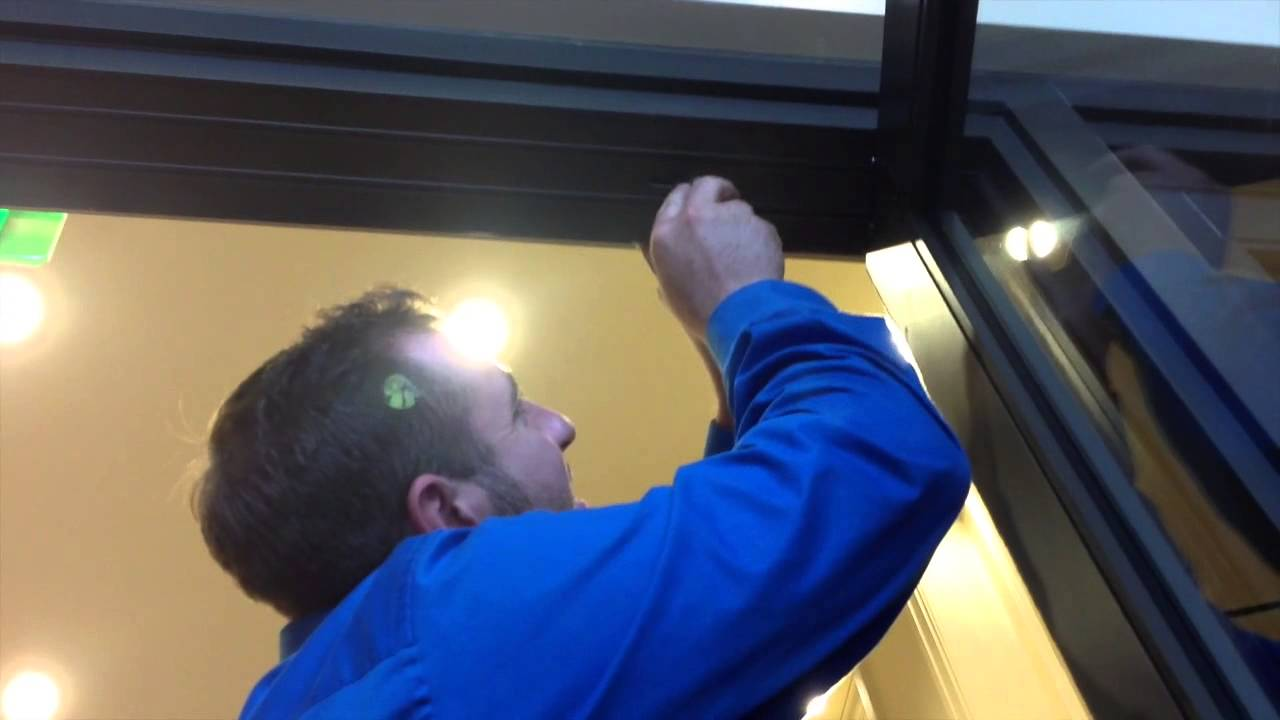How To Adjust A Center Hung Door Youtube