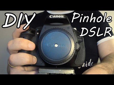 How To Make A Pinhole Camera Photos With DSLR Camera (DIY)