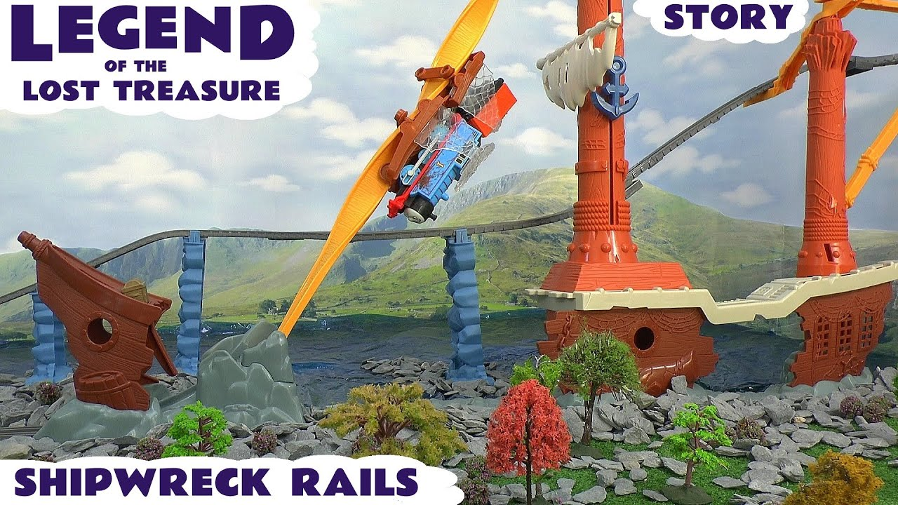 Fisher price thomas amp friends trackmaster treasure chase set new - Thomas And Friends Legend Of The Lost Treasure Trackmaster Shipwreck Rails Set Play Doh Story Youtube