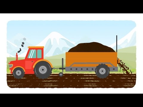 tractor | tractor cartoons | kids agriculture cartoon | videos for babies