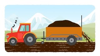 Download tractor | tractor cartoons | kids agriculture cartoon | videos for babies Mp3 and Videos