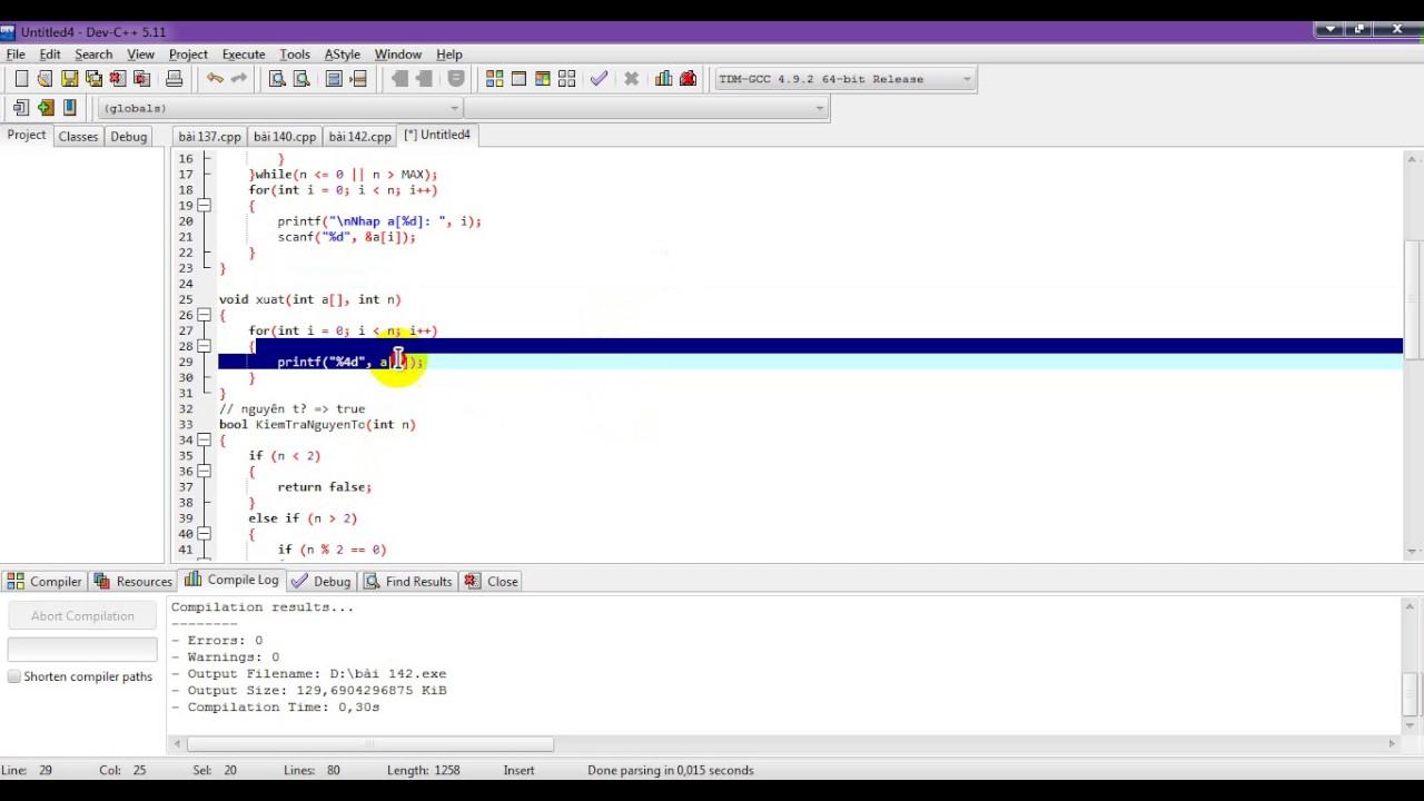 bài 144:: tìm số nguyên tố đầu tiên trong mảng một chiều.mảng không có số nguyên tố thì trả về -1